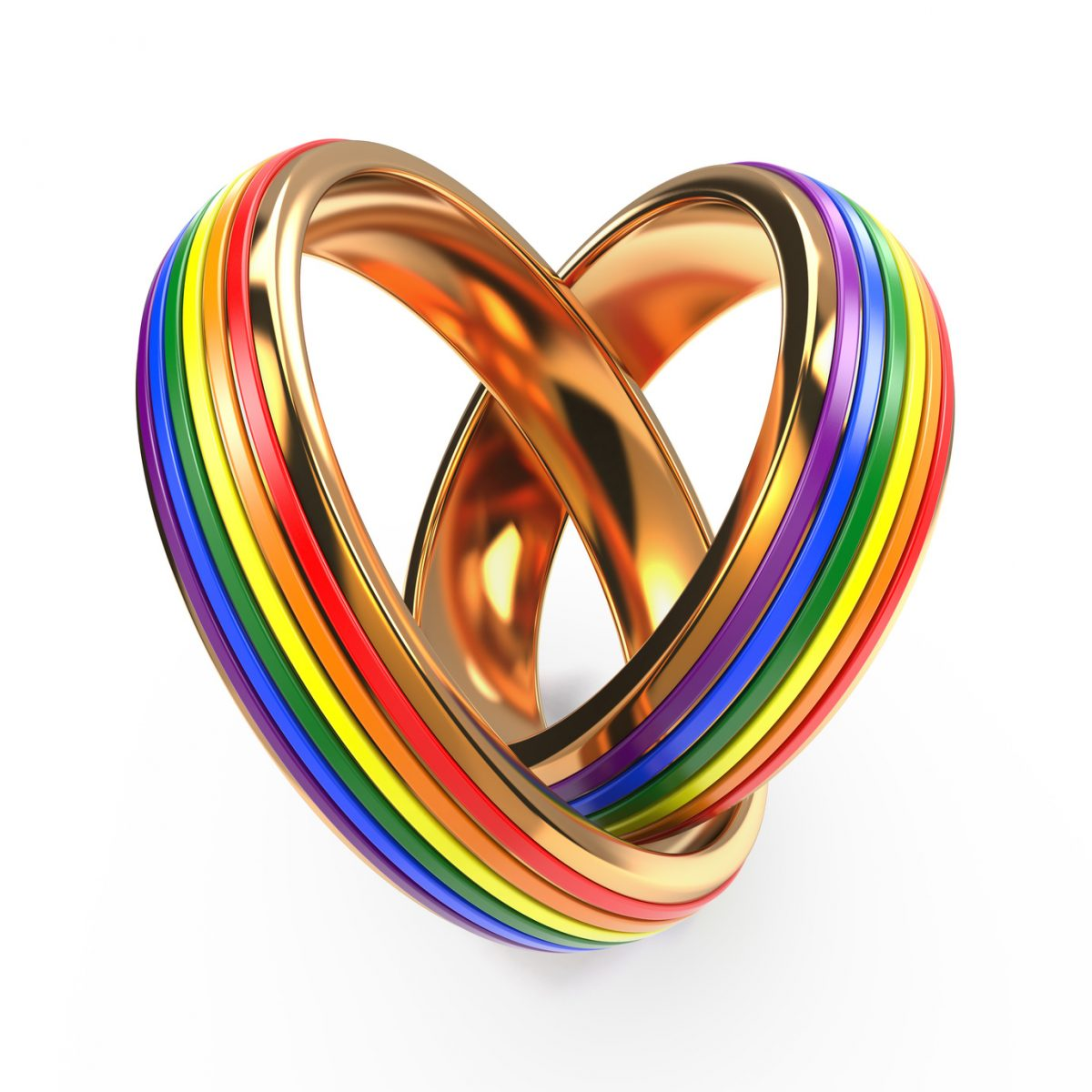 Wedding Rings with Gay Symbols for website of best dsicrimination attorneys Chicago