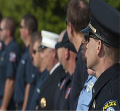Line of Police Officers for Chicago successful workers comp lawyer blog