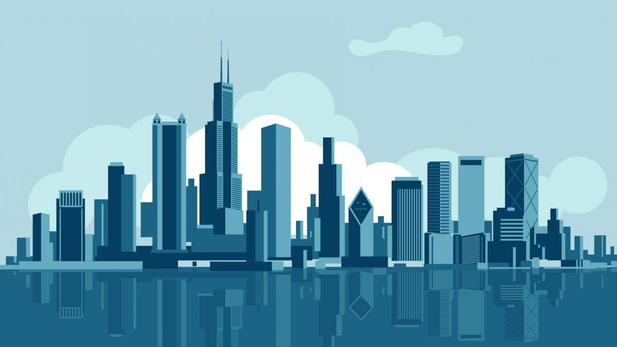 animated chicago skyline for a wage lawyer chicago