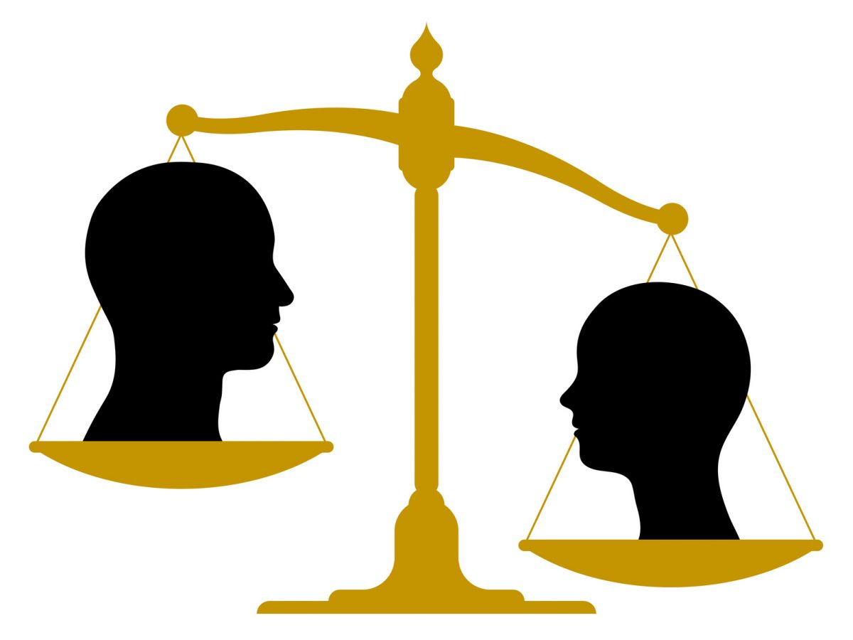 vintage scale with male and female silhouettes and if you need a wage attorney look here for one in Chicago.
