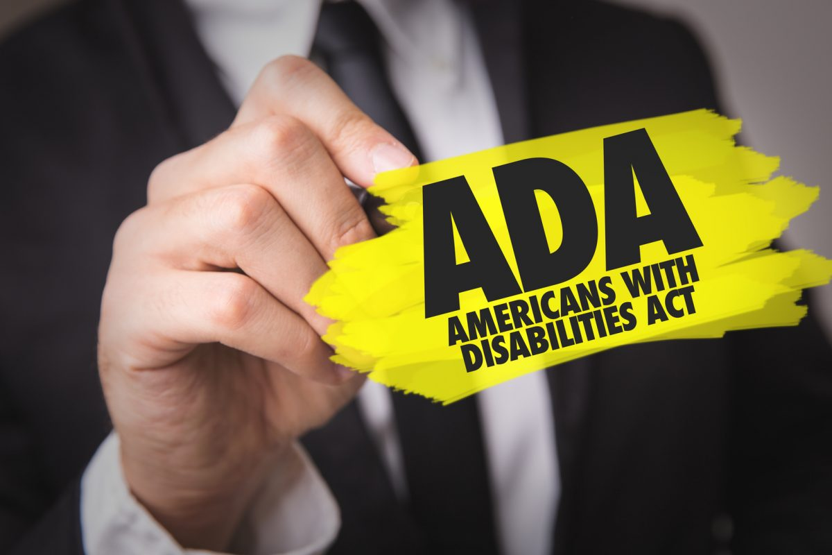 ADA - Americans With Disabilities Act and if you are looking for an ADA discrimination attorney find one in the Chicago loop.